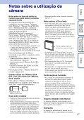 Sony DSC-W390 - DSC-W390 Istruzioni per l'uso Portoghese - Page 3