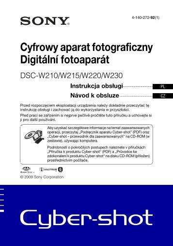 Sony DSC-W215 - DSC-W215 Istruzioni per l'uso Ceco