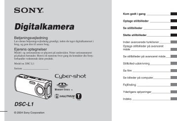 Sony DSC-L1 - DSC-L1 Istruzioni per l'uso Danese