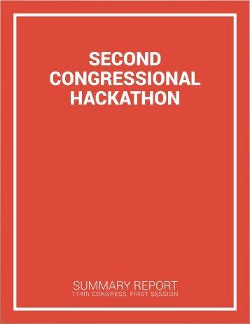 SECOND CONGRESSIONAL HACKATHON