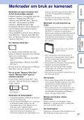 Sony DSC-W390 - DSC-W390 Istruzioni per l'uso Norvegese - Page 3