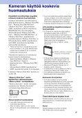 Sony DSC-W390 - DSC-W390 Istruzioni per l'uso Finlandese - Page 3
