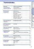 Sony DSC-W390 - DSC-W390 Istruzioni per l'uso Finlandese - Page 7