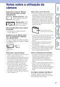 Sony DSC-WX1 - DSC-WX1 Istruzioni per l'uso Portoghese - Page 3