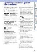 Sony DSC-WX1 - DSC-WX1 Istruzioni per l'uso Olandese - Page 3