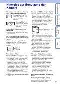 Sony DSC-WX1 - DSC-WX1 Istruzioni per l'uso Tedesco - Page 3