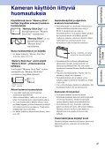 Sony DSC-WX1 - DSC-WX1 Istruzioni per l'uso Finlandese - Page 3