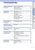 Sony DSC-WX1 - DSC-WX1 Istruzioni per l'uso Finlandese - Page 7