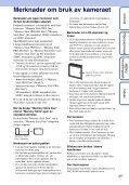 Sony DSC-W350D - DSC-W350D Istruzioni per l'uso Norvegese - Page 3