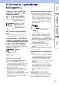 Sony DSC-WX1 - DSC-WX1 Istruzioni per l'uso Slovacco - Page 3