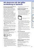 Sony DSC-W350D - DSC-W350D Guida all'uso Svedese - Page 3
