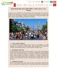 Spend Memorable Time in ORLANDO - Choose America Tour Package