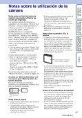 Sony DSC-W350D - DSC-W350D Istruzioni per l'uso Spagnolo - Page 3