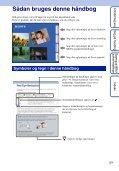 Sony DSC-W350D - DSC-W350D Istruzioni per l'uso Danese - Page 2