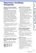 Sony DSC-HX5V - DSC-HX5V Istruzioni per l'uso Croato - Page 3