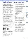 Sony DSC-HX5V - DSC-HX5V Istruzioni per l'uso Norvegese - Page 3