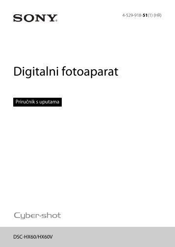 Sony DSC-HX60 - DSC-HX60 Istruzioni per l'uso Croato