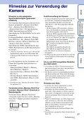 Sony DSC-HX5V - DSC-HX5V Istruzioni per l'uso Tedesco - Page 3