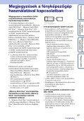 Sony DSC-HX5V - DSC-HX5V Istruzioni per l'uso Ungherese - Page 3