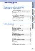 Sony DSC-HX5V - DSC-HX5V Istruzioni per l'uso Ungherese - Page 5