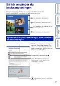 Sony DSC-HX5V - DSC-HX5V Istruzioni per l'uso Svedese - Page 2