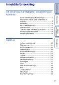 Sony DSC-HX5V - DSC-HX5V Istruzioni per l'uso Svedese - Page 5