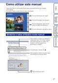 Sony DSC-HX5V - DSC-HX5V Istruzioni per l'uso Portoghese - Page 2