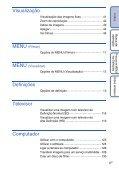 Sony DSC-HX5V - DSC-HX5V Istruzioni per l'uso Portoghese - Page 6