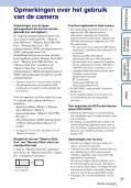 Sony DSC-HX5V - DSC-HX5V Istruzioni per l'uso Olandese - Page 3