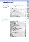 Sony DSC-HX5V - DSC-HX5V Istruzioni per l'uso Olandese - Page 5