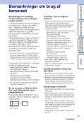 Sony DSC-HX5V - DSC-HX5V Istruzioni per l'uso Danese - Page 3