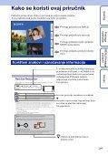 Sony DSC-TX7 - DSC-TX7 Istruzioni per l'uso Croato - Page 2