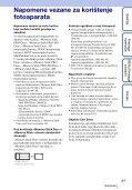 Sony DSC-TX7 - DSC-TX7 Istruzioni per l'uso Croato - Page 3