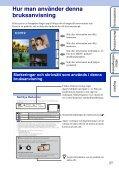 Sony DSC-TX7 - DSC-TX7 Istruzioni per l'uso Svedese - Page 2