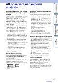 Sony DSC-TX7 - DSC-TX7 Istruzioni per l'uso Svedese - Page 3