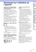 Sony DSC-TX7 - DSC-TX7 Istruzioni per l'uso Francese - Page 3