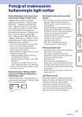 Sony DSC-TX7 - DSC-TX7 Istruzioni per l'uso Turco - Page 3