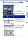 Sony DSC-TX7 - DSC-TX7 Istruzioni per l'uso Danese - Page 2