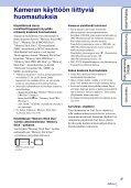 Sony DSC-TX7 - DSC-TX7 Istruzioni per l'uso Finlandese - Page 3