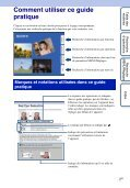 Sony DSC-W190 - DSC-W190 Istruzioni per l'uso Francese - Page 2