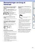 Sony DSC-W190 - DSC-W190 Istruzioni per l'uso Danese - Page 3