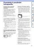 Sony DSC-S1900 - DSC-S1900 Istruzioni per l'uso Ceco - Page 3