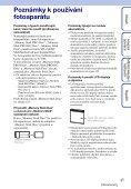 Sony DSC-W370 - DSC-W370 Istruzioni per l'uso Ceco - Page 3