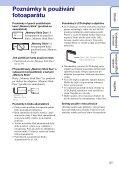 Sony DSC-W190 - DSC-W190 Istruzioni per l'uso Ceco - Page 3