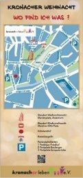 Kronacher Weihnacht Flyer 2015