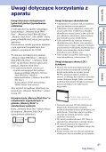 Sony DSC-W370 - DSC-W370 Istruzioni per l'uso Polacco - Page 3