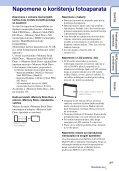Sony DSC-W370 - DSC-W370 Istruzioni per l'uso Croato - Page 3
