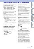 Sony DSC-W370 - DSC-W370 Istruzioni per l'uso Norvegese - Page 3