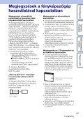 Sony DSC-W370 - DSC-W370 Istruzioni per l'uso Ungherese - Page 3