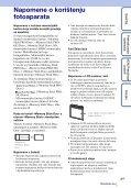 Sony DSC-W320 - DSC-W320 Istruzioni per l'uso Croato - Page 3